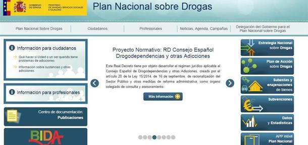 El Plan Nacional sobre Drogas renueva su página web y abre una ...